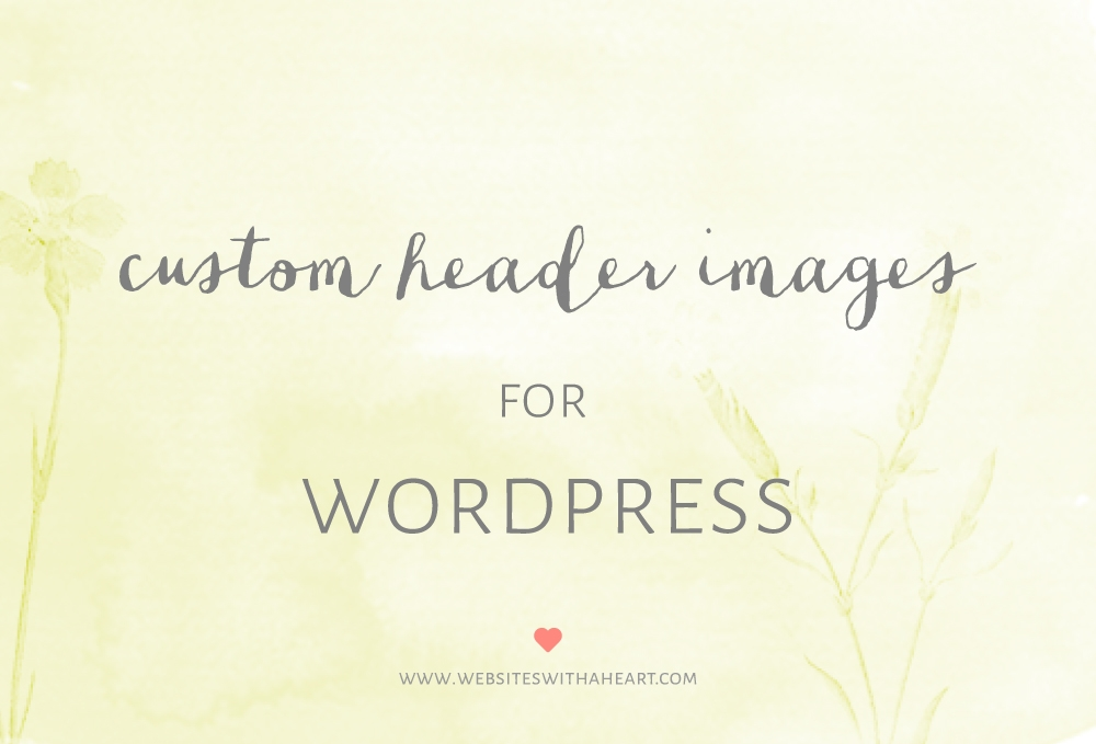 custom header images in wordpress -