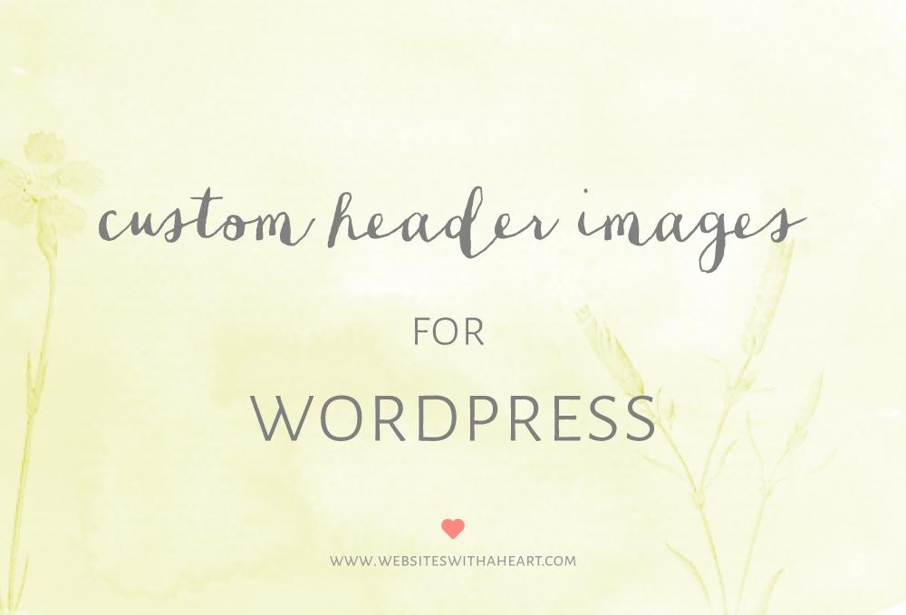 custom header images in wordpress -