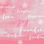 Wishing you joy, happiness, inspiration, creativity...