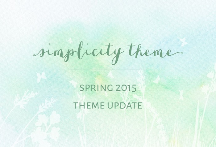 Simplicity Theme update  - spring 2015
