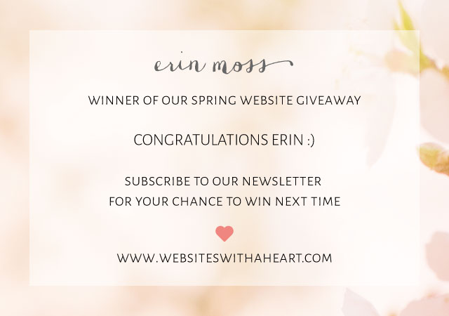 Winner spring 2015 website giveaway