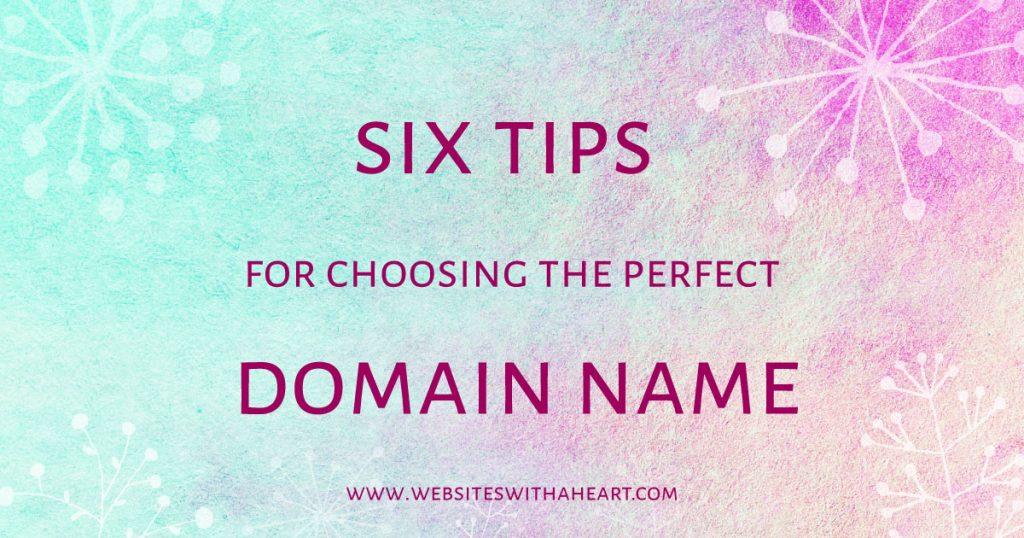 Domain names - 6 tips