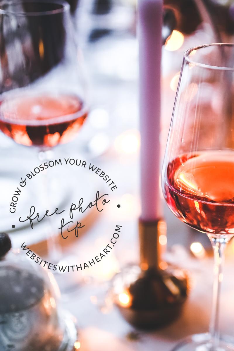 Free image -Wine & candle