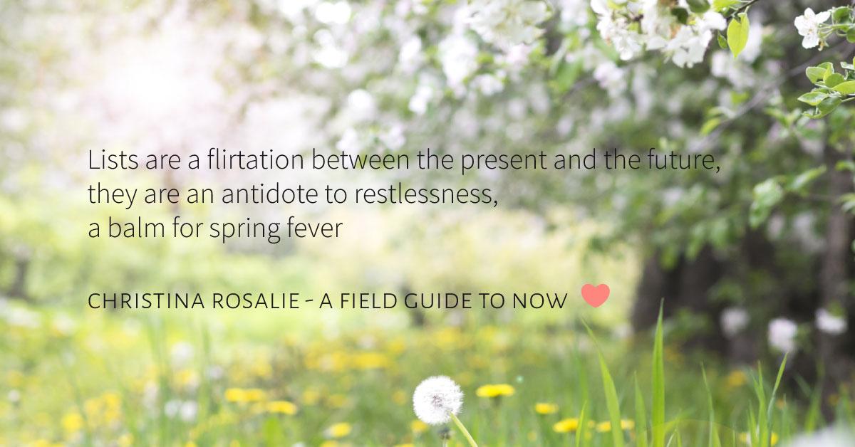 lists quote Christina Rosalie